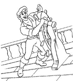 prince eric coloring page