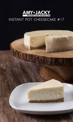 Instant Pot New York Cheesecake - Unflavored Water - Ideas of Unflavored Water - Easy New York Instant Pot Cheesecake Recipe: make this smooth & creamy or rich & dense pressure cooker cheesecake with crisp crust. Impress guests & pamper yourself! Instant Pot Cheesecake Recipe, Best Instant Pot Recipe, Cheesecake Recipes, Dessert Recipes, Instapot Cheesecake, Easter Recipes, Cheesecake Pan, Homemade Cheesecake, Classic Cheesecake