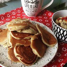 Ce que j'aime le plus dans la séance #running à jeun du matin c'est la petit déjeuner qui suit. En plus ce matin  j'ai fait quelques #pancakes en rentrant
