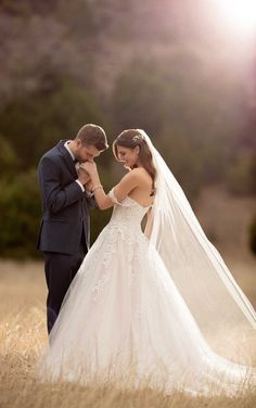 Courtesy of Essense of Australia Wedding Dresses; Lace Ballgown Wedding Dr… Courtesy of Essense of Australia Wedding Dresses; Lace Ballgown Wedding Dress by Essense of Australia Wedding Picture Poses, Wedding Photography Poses, Wedding Poses, Wedding Photoshoot, Wedding Shoot, Wedding Couples, Dream Wedding, Couple Photography, Wedding Hair