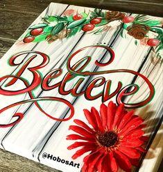 Christmas happy holidays enjoy Noel believe Jesus hope By Happy Holidays, Christmas Holidays, Holiday Canvas, The Dreamers, Believe, Canvas Art, Paintings, Handmade Gifts, Artist