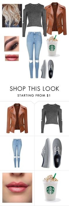 """""""Untitled #764"""" by jujuxx33 ❤ liked on Polyvore featuring Topshop, Vans and tarte"""