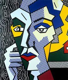 Roy Lichtenstein - Expressionist Head (1980)