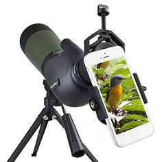 Gosky 80 Porro Prism Spotting Scope- Waterproof Scope for Bird watching Target Shooting Archery Range Outdoor Activities -with Tripod & Digiscoping Phone Adapter-Get the World into Screen Hunting Scopes, Hunting Gear, Hunting Equipment, Archery Hunting, Deer Hunting, Bird Watching Gifts, Archery Range, Traditional Archery, Water