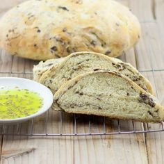 Kalamata Olive Bread Recipe | Olive Bread | Lemon and Olives