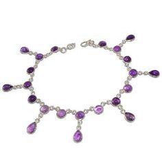 f947e55a3 Amethyst Gemstone Anklets Silver Jewelry (Jewelry) Silver Body Jewellery
