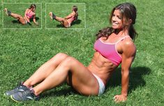Seated Russian twists - an amazing ab workout!