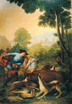 La caza del jabalí. palacio real, madrid