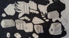A good liquorice allsort picture from Saturday's 9:30 art class at Faux Arts