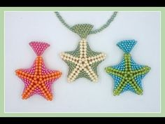 Beaded Starfish Pendant - YouTube