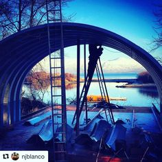 Wow! What an amazing shot! #Repost @njblanco with @repostapp ・・・ We are building this beauty for our crew quarters at #driftwoodwildernesslodge #buildingalaska #quonsethut #quonset #kodiak #alaska