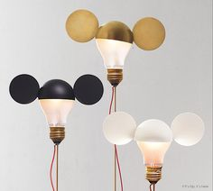 Whimsical Table Lamps by Ingo Maurer Are A Nod To Mickey Mouse and Disney.