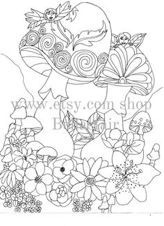 Hand Drawn Fairys Mythical coloring page  coloring by Bellasfair