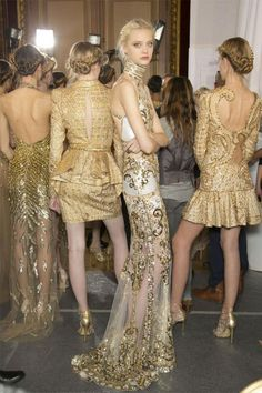 Gold Bridesmaid Dresses / Daring Backs / LANE Bridesmaid Dresses / Daring Backs /  LANE (PS follow The LANE on instagram: the_lane)