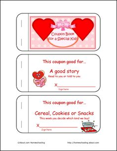 Valentine's Day Coupon Book for Kids