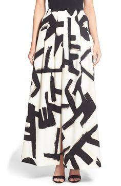 NIC+ZOE 'Letterpress' Brushstroke Print Maxi Skirt available at #Nordstrom