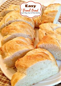 Easy French Bread | Can't Stay Out of the Kitchen | this amazing yeast #bread recipe is easier than a lot of #homemadebread recipes and tastes wonderful. (Pinned 2.91k)