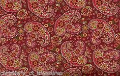 A.E. Nathan Aubusson Autumn Paisley Cotton Quilting Fabric By The Yard Off Bolt