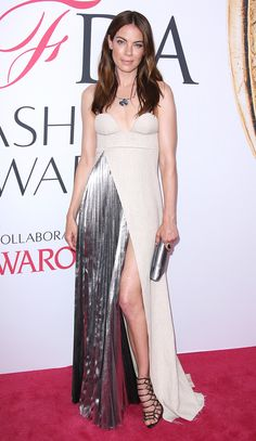Michelle Monaghan in a strapless Off-White c/o Virgil Abloh dress - click through to see more best dressed at the 2016 CFDA Awards