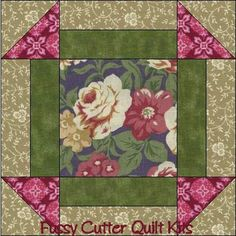 Burgundy Cream Purple Roses Floral Fabric Easy Pre-Cut Quilt Blocks Top Squares Kit