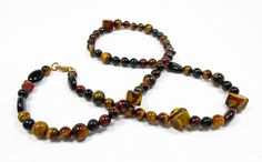 Tiger's Eye Necklace by kiddercreations on Etsy, $30.00