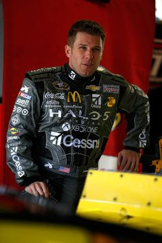 Jamie McMurray Photos - Jamie McMurray, driver of the #1 Halo 5: Spartan Locke/Cessna Chevrolet, stands in the garage area during practice for the NASCAR Sprint Cup Series Hollywood Casino 400 at Kansas Speedway on October 17, 2015 in Kansas City, Kansas. - Kansas Speedway - Day 2