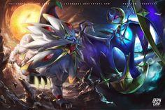 Solgaleo Lunala Pokemon Sun and moon by logancure.deviantart.com on @DeviantArt