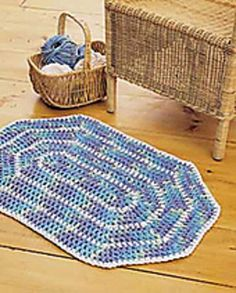 Crochet Oval Rug by Lily / Sugar'n Cream