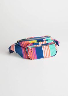 550df5c85e6f And other stories Striped Beltbag Leather Crossbody Bag