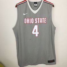 6cb079f5 Mens Nike Elite Ohio State Buckeyes Basketball Jersey Size Adult Extra  Large #4
