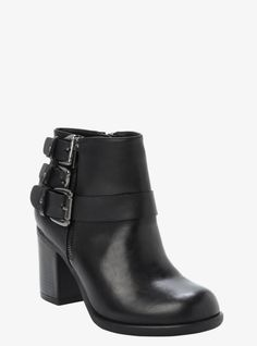3-Buckle Booties (Wide Width) From the Plus Size Fashion Community at www.VintageandCurvy.com