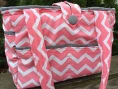 Large Bag- Diaper Bag- Work Bag- School Bag- Travel Bag, with coral and white chevron by katiereaddesign on Etsy My Baby Girl, Our Baby, Baby Love, Coral Chevron, Teal Blue, Everything Baby, Baby Gear, Future Baby, Ideas