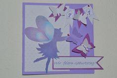 Einladungskarten - Einladung Kindergeburtstag Glückwunschkarte Fee - ein Designerstück von leoniejette bei DaWanda