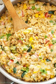 Southwest Turkey, Vegetable and Rice Skillet