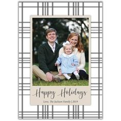 We're constantly adding new designs to Brown Paper Studios. Christmas Photo Cards, Christmas Photos, Holiday Cards, New Year Greeting Cards, New Year Greetings, Very Merry Christmas, Plaid Christmas, Halloween Party Invitations, Baby Shower Invitations For Boys