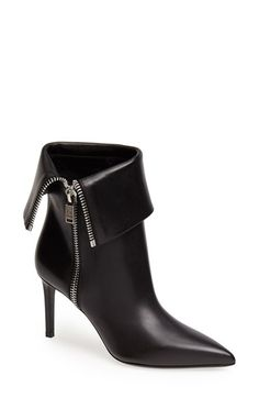 f94b84c21a569 Saint Laurent Cuff Pointy Toe Calfskin Leather Bootie available at   Nordstrom Bottines, Chaussures Femme