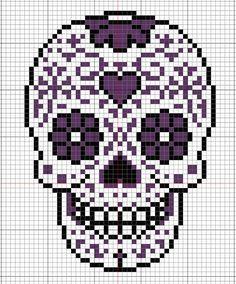 Dia de los muertos Calavera sugar skull cross stitch pattern