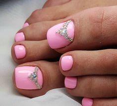 Pink Toe Nail art