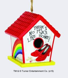"""Wizard of Oz """"There's No Place Like Home"""" Birdhouse , Birdhouses - Spoontiques, Living for Pop"""