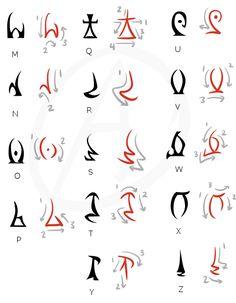 Alternian alphabet part 2 Alphabet Code, Alphabet Symbols, Calligraphy Alphabet, Arte Banksy, Water Lily Tattoos, Fictional Languages, Wiccan Spell Book, Dark Art Drawings, Lettering Tutorial