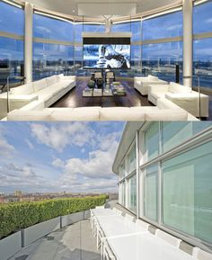 Thames Riverside Luxury Penthouse Apartment In London Designed By  Architects Foster And Partners, Interior Design