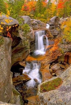 Screw Auger Falls - Maine, Travel the USA