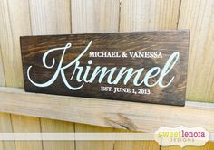 Personalized Last Name and Established Date by SweetLenoraDesigns, $35.95