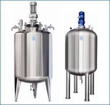 Plain Tank with welded top disc with top drives agitator