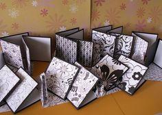 14 3 by 3 inch black and white pattern paper note cards with matching envelopes by memories4alifetime on Etsy