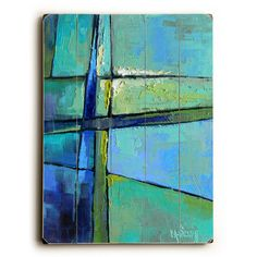 Abstract by Artist Carol Schiff Wood Sign