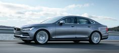 This is the new 2017 Volvo S90, packing a 407 horsepower hybrid drivetrain, the Pilot Assist semi-autonomous drive system upgraded to work at up to 80 mph, the anti-kangaroo tech they call City Safety and a huge tablet in the middle with Apple CarPlay (or Android, if you're one of those people) and a bunch of cloud-based applications. It's everything we love in the Volvo XC90, just more car-ish, yet still plenty of Swede-ish.