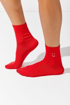 e4f6cf60e18 Out From Under Smiley Crew Sock