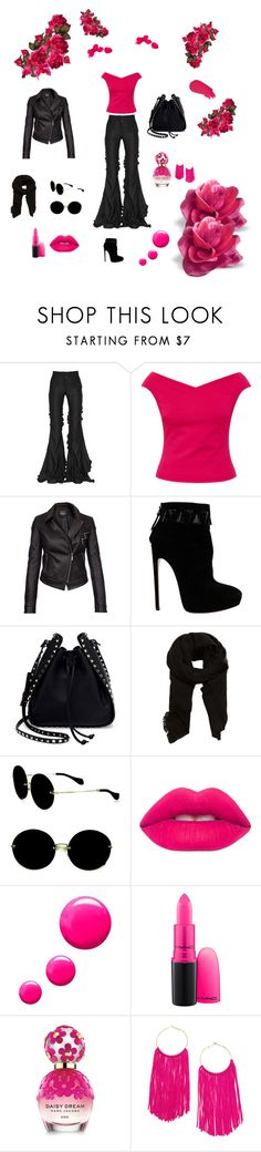 """""""#5"""" by brcaninovic-aida ❤ liked on Polyvore featuring Marco de Vincenzo, Ted Baker, Barbour International, Alaïa, Valentino, MANGO, Miu Miu, Lime Crime, Topshop and MAC Cosmetics"""