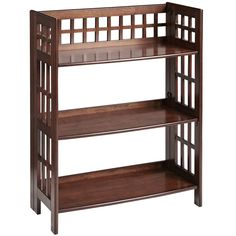 Fretted Tuscan Brown Low Folding Shelf | Pier 1 Imports